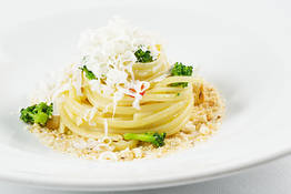 Linguine with Broccoli Cacio Ricotta cheese