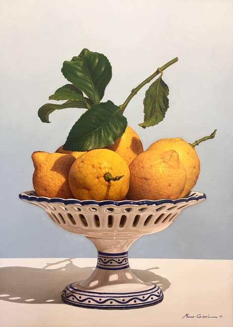 Alzata con limoni