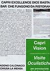 Il Corriere di Capri - Capri Excellence dice basta ai bar che fungono da ristorante