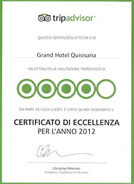 Certificato di Eccellenza 2012