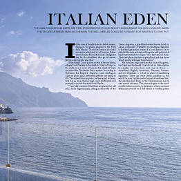WISH magazine, The Australian - Italian Eden